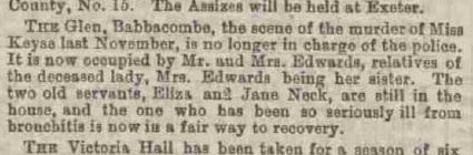 Exeter and Plymouth Gazette Daily Telegrams. - Thursday 12 March 1885