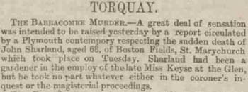 John Sharland - Western Times - Thursday 02 June 1887