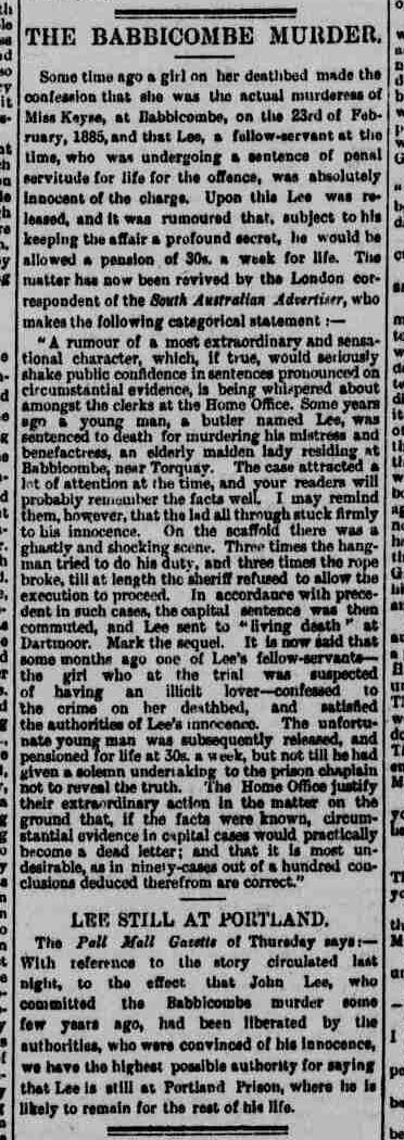 Deathbed Confession  - Western Mail - Friday 05 August 1887