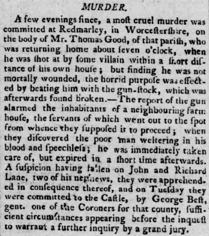 Staffordshire Advertiser - Saturday 09 November 1799
